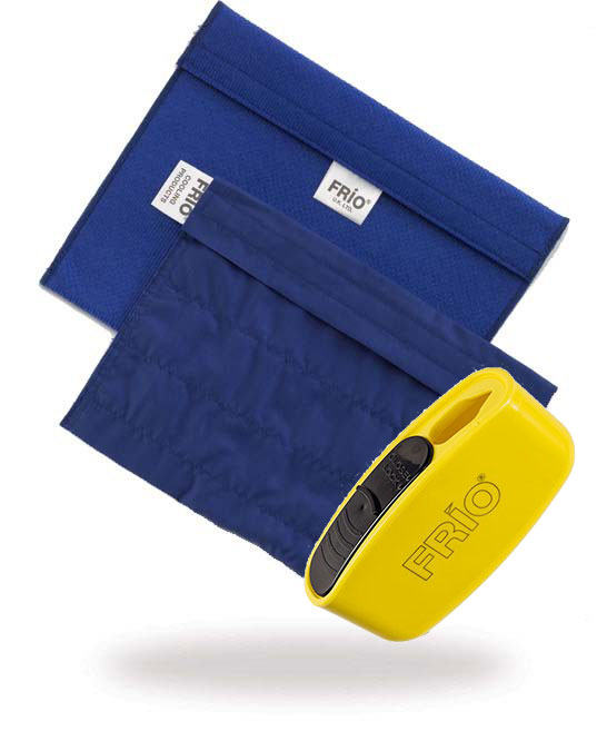 Pocket Sharps Bin Extra Large Blue Frio Insulin Cooling wallet