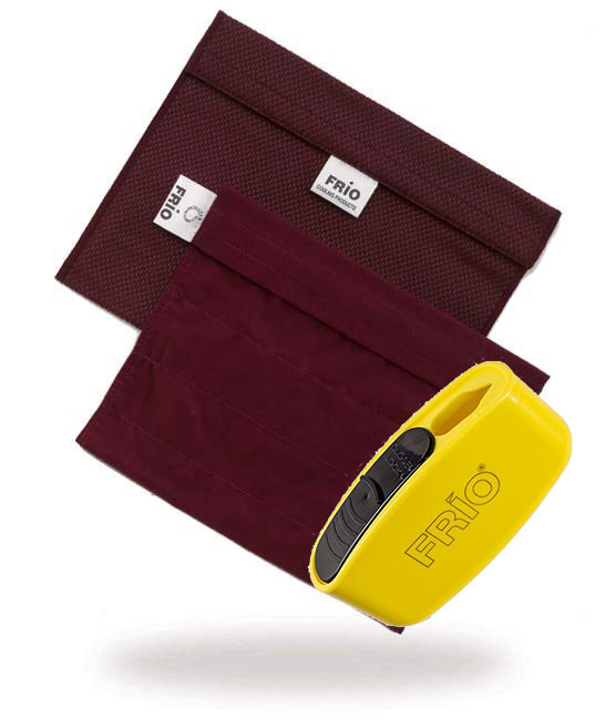 Pocket Sharps Bin Extra Large Burgundy Frio Insulin Cooling wallet