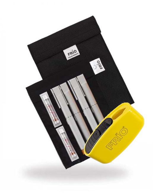 Pocket Sharps Bin Large Black Frio Insulin Cooling Wallet