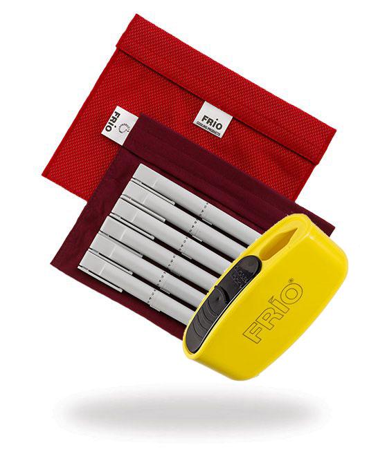 Pocket Sharps Bin Extra Large Red Frio Insulin Cooling wallet