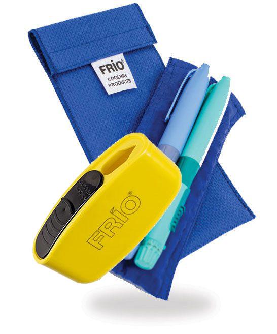 Pocket Sharps Bin Duo Blue Frio Insulin Cooling Wallet