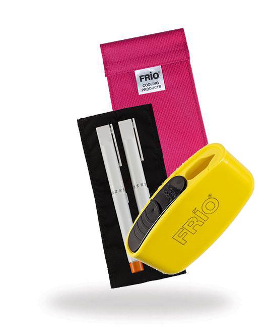 Pocket Sharps Bin Duo Pink Frio Insulin Cooling Wallet