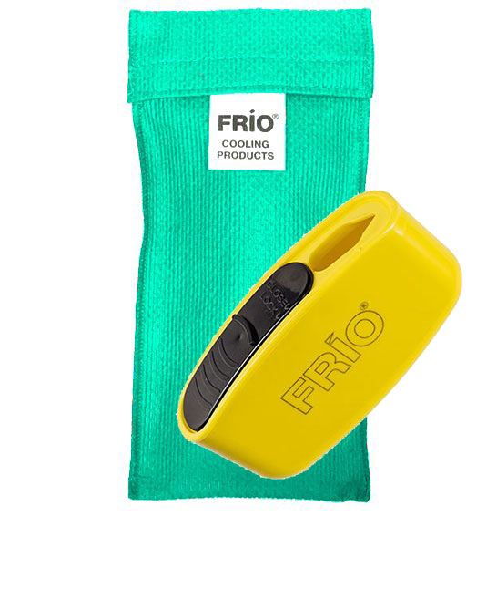 Pocket Sharps Bin Duo Sea Green Frio Insulin Cooling Wallet